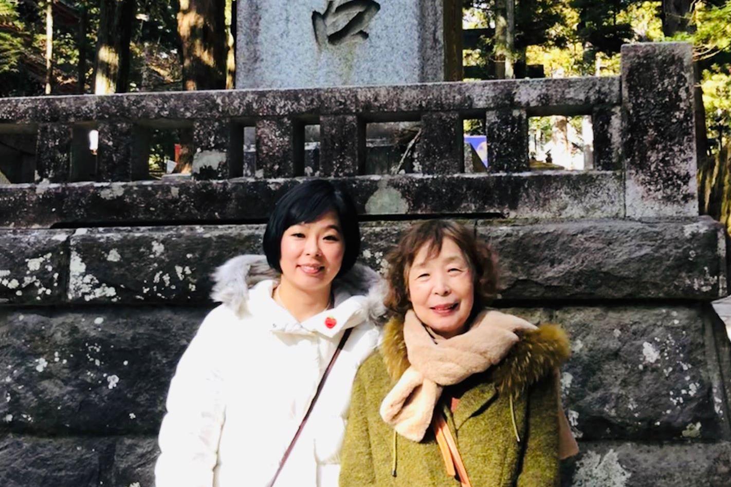 加藤ちほ-母と共に